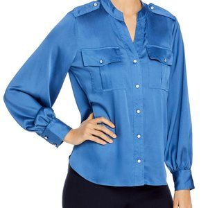Karl Lagerfeld Blue Polyester Button Down Size Small
